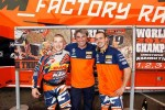 The two KTM World Champions Matthew PHILLIPS and Christophe NAMBOTIN