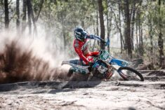 Charging hard through the sandy special tests, Matteo Pavoni (TM) topped the Enduro Junior class on day two at the TERRA ÚNICA GP of Portugal ©Future Media 7